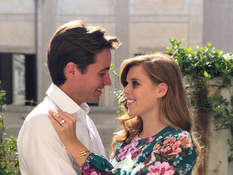 Princess Beatrice wed in grandmother's vintage Hartnell gown and tiara
