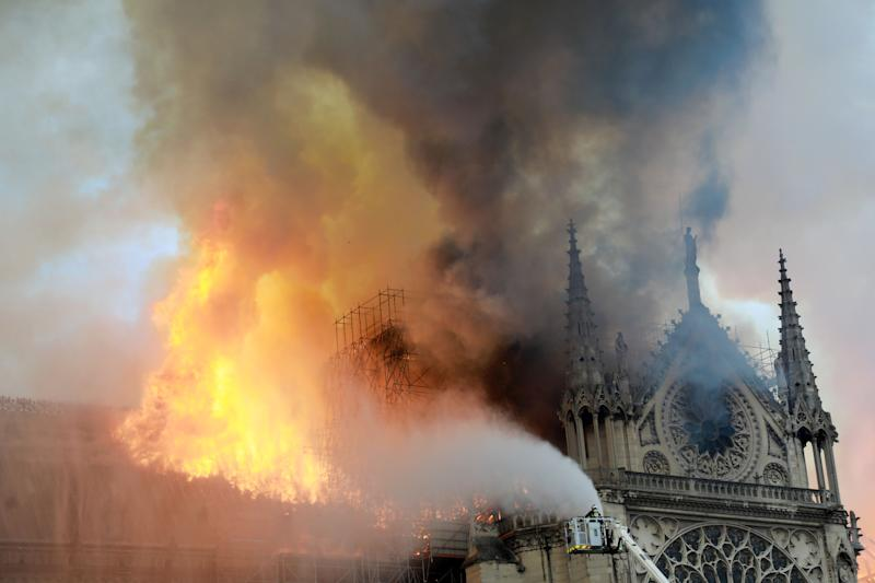 Notre Dame Cathedral fire destroyed two thirds of the cathedral's roof, according to officials.