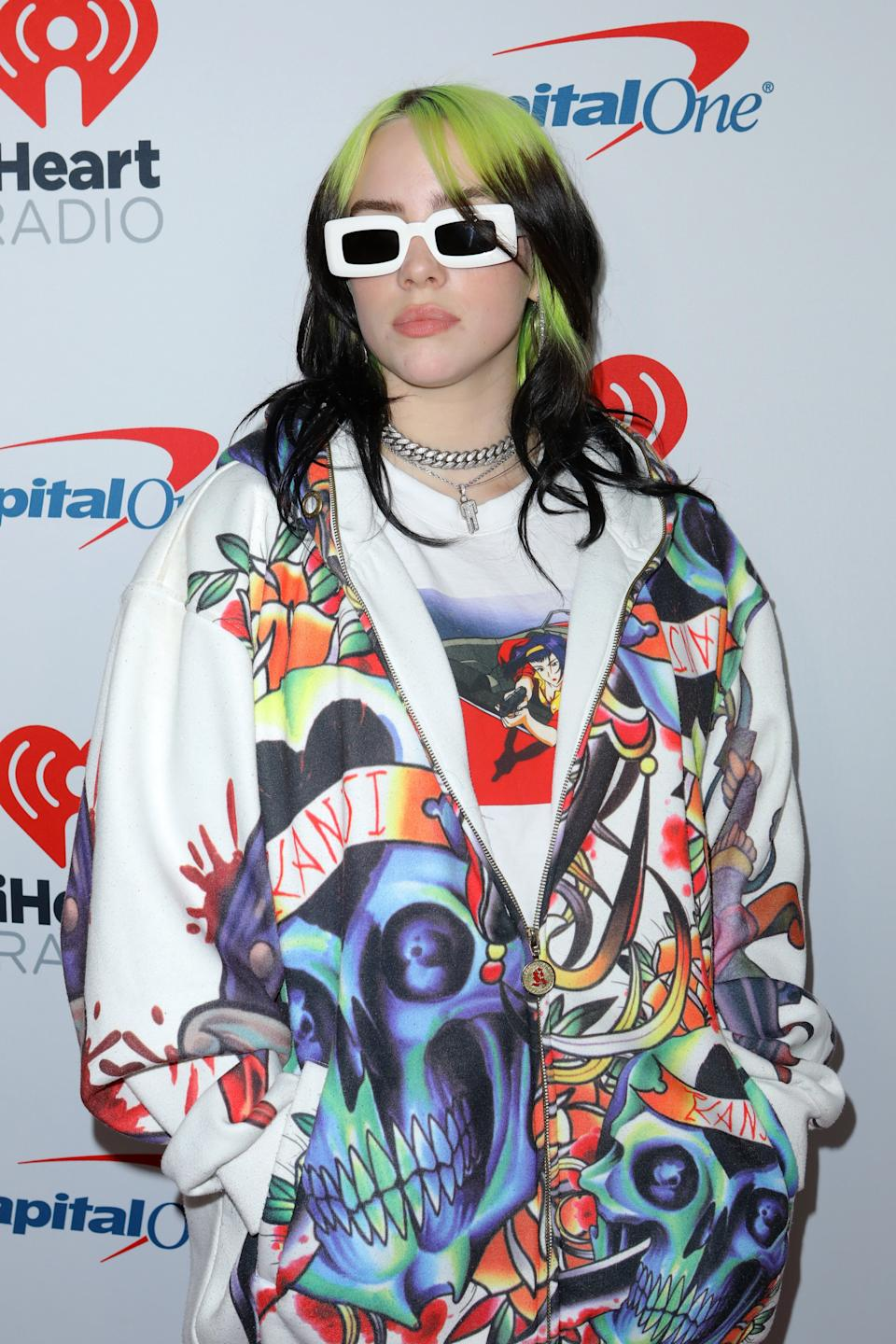 Billie Eilish at the iHeart Radio Awards in January 2020Getty