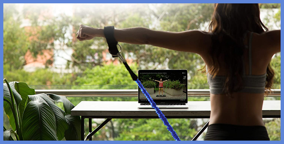 Today only, save big on this portable home gym workout package. (Photo: Amazon)