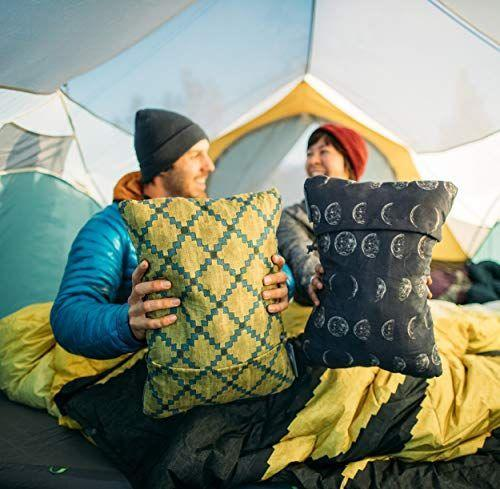 """<p><strong>Therm-a-Rest</strong></p><p>amazon.com</p><p><strong>29.95</strong></p><p><a href=""""https://www.amazon.com/dp/B01KXU5DZI?tag=syn-yahoo-20&ascsubtag=%5Bartid%7C10055.g.32958220%5Bsrc%7Cyahoo-us"""" rel=""""nofollow noopener"""" target=""""_blank"""" data-ylk=""""slk:SHOP NOW"""" class=""""link rapid-noclick-resp"""">SHOP NOW</a></p><p>Why rest your head on the ground when you can cozy up to a soft and fluffy foam travel pillow? It won't add any bulk to your pack — <strong>it compresses down to one-eighth of its 14-by-18-inch size</strong>.</p>"""