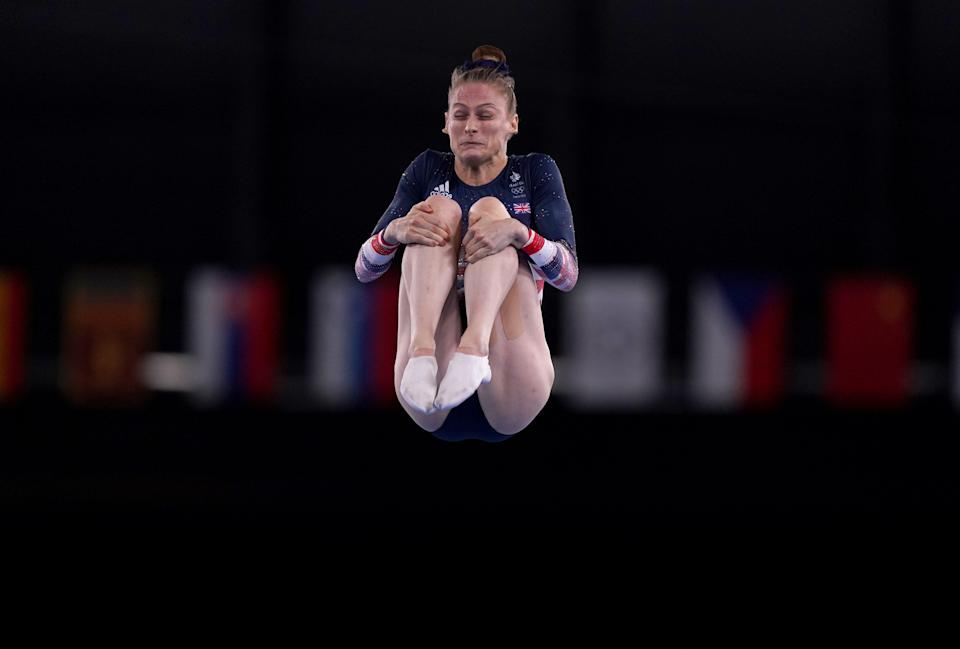 Bryony Page claimed her second consecutive Olympic trampoline medal in Tokyo(Mike Egerton/PA) (PA Wire)