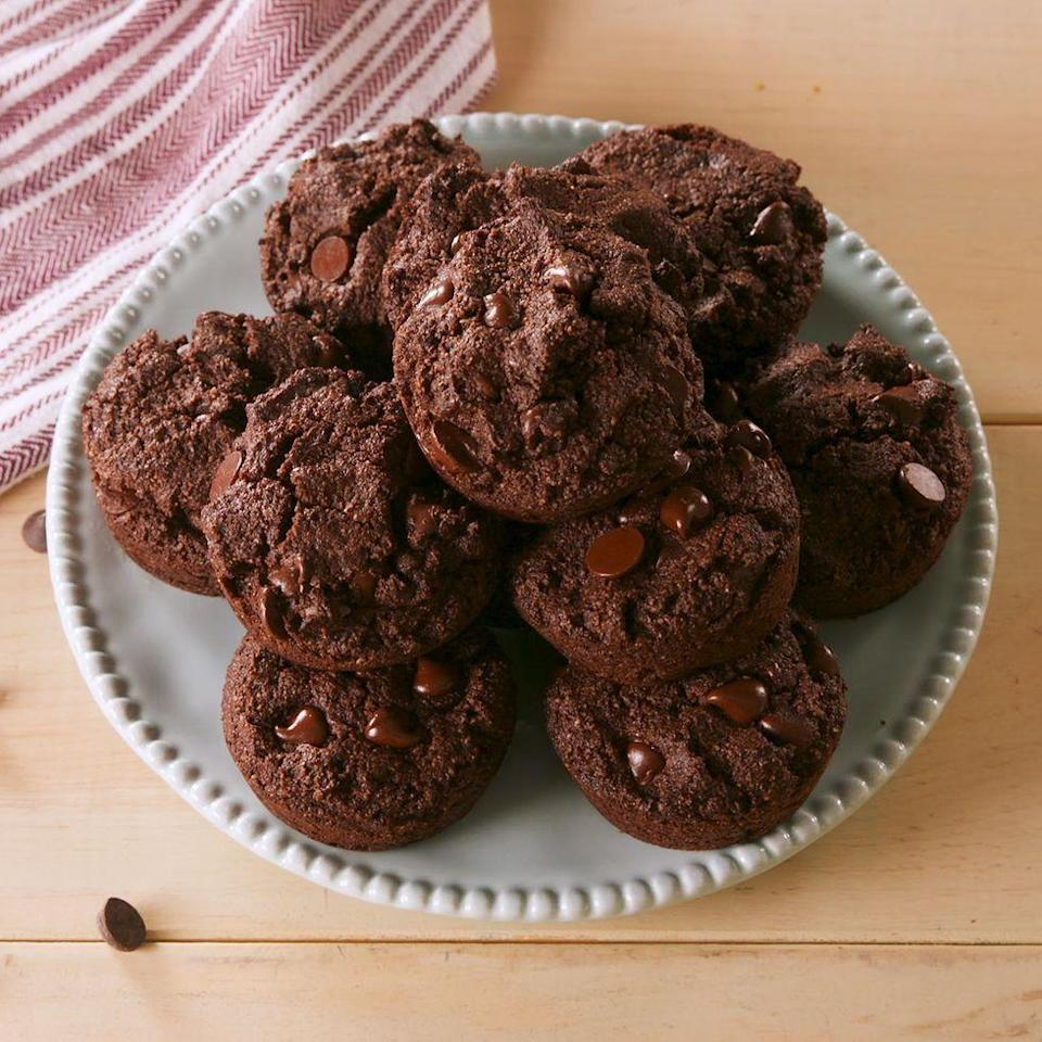 "<p>Who says you can't have chocolate on a diet?</p><p>Get the <a href=""https://www.delish.com/uk/cooking/recipes/a30054425/keto-double-chocolate-muffins-recipe/"" rel=""nofollow noopener"" target=""_blank"" data-ylk=""slk:Keto Double Chocolate Muffins"" class=""link rapid-noclick-resp"">Keto Double Chocolate Muffins</a> recipe.</p>"
