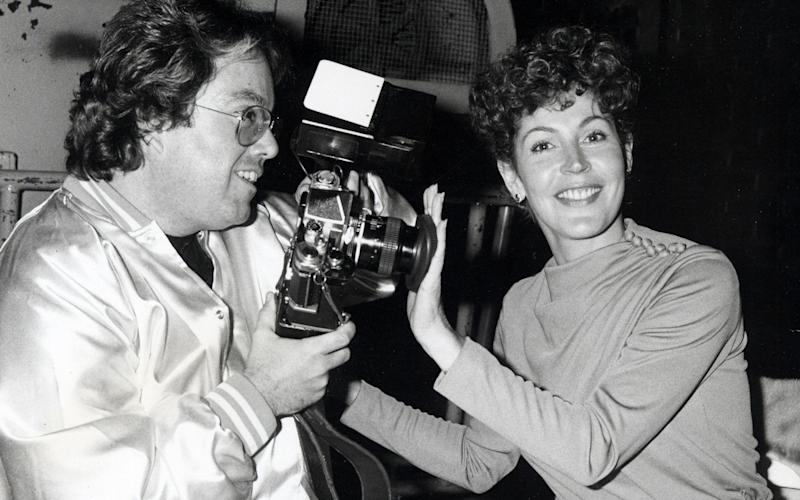 Helen Reddy and Allen Carr attending the wrap party for 'Paradise Alley' in 1978 at Universal Studios in California - Ron Galella Collection