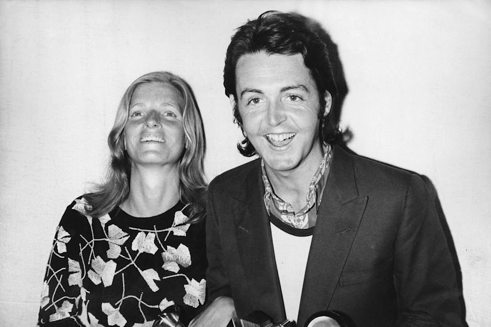 """<p>A young McCartney with Linda at the 1971 Grammy Awards in Hollywood, where he picked up an honor for """"Let It Be.""""</p>"""