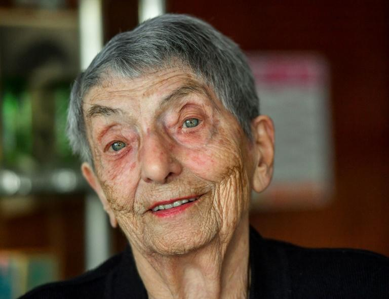 Marie-Louise Wirth vows to keep her bar in Isbergues in northern France going -- no retirement plans for this centenarian