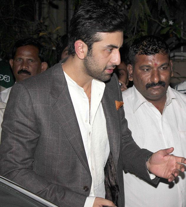 Ranbir Kapoor arrives for the bash