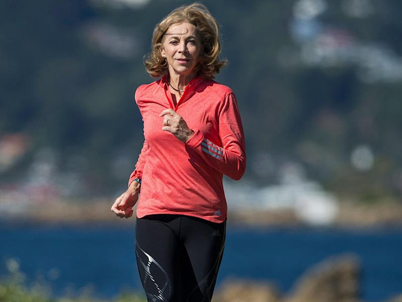 Ms Switzer – who has been running since she was 12 years old – decided to enter the race aged 20 after encouragement from her coach. Before entering, she had to prove to him she was capable of completing the race's 26 miles: Hagen Hopkins