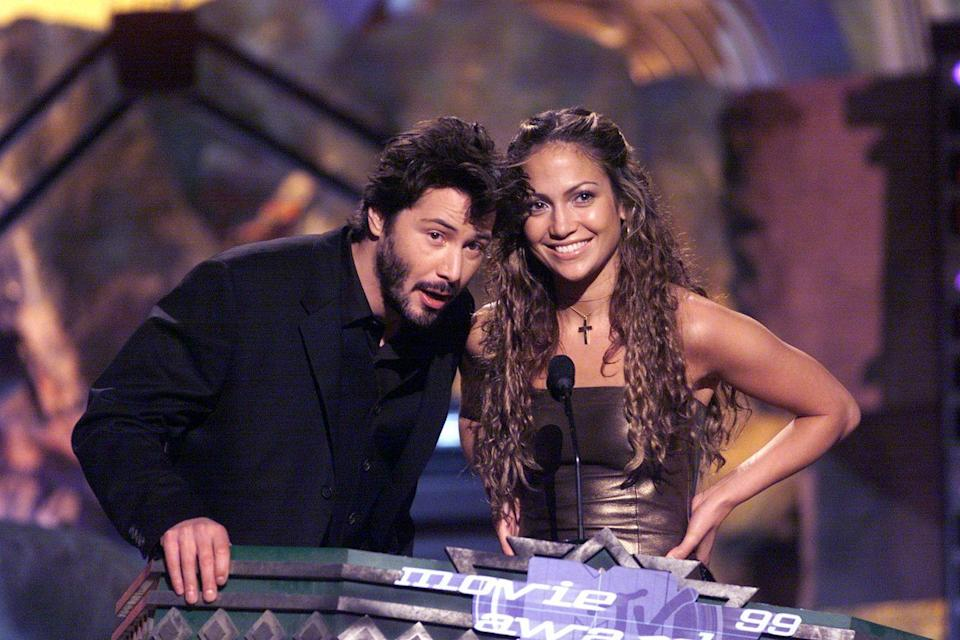 <p>With J.Lo at the MTV Movie Awards.</p>