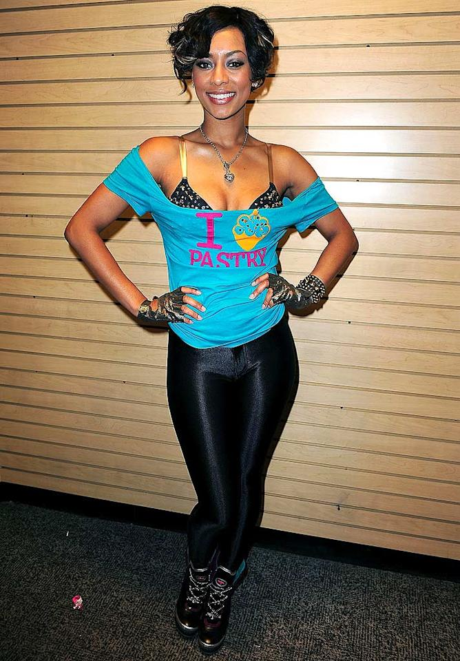 "Hair don't: check. Trashy top: check. Ridiculous gloves: check. Unsightly spandex: check. Keri Hilson in one of the worst outfits of the week: check. Gustavo Caballero/<a href=""http://www.wireimage.com"" target=""new"">WireImage.com</a> - April 7, 2009"
