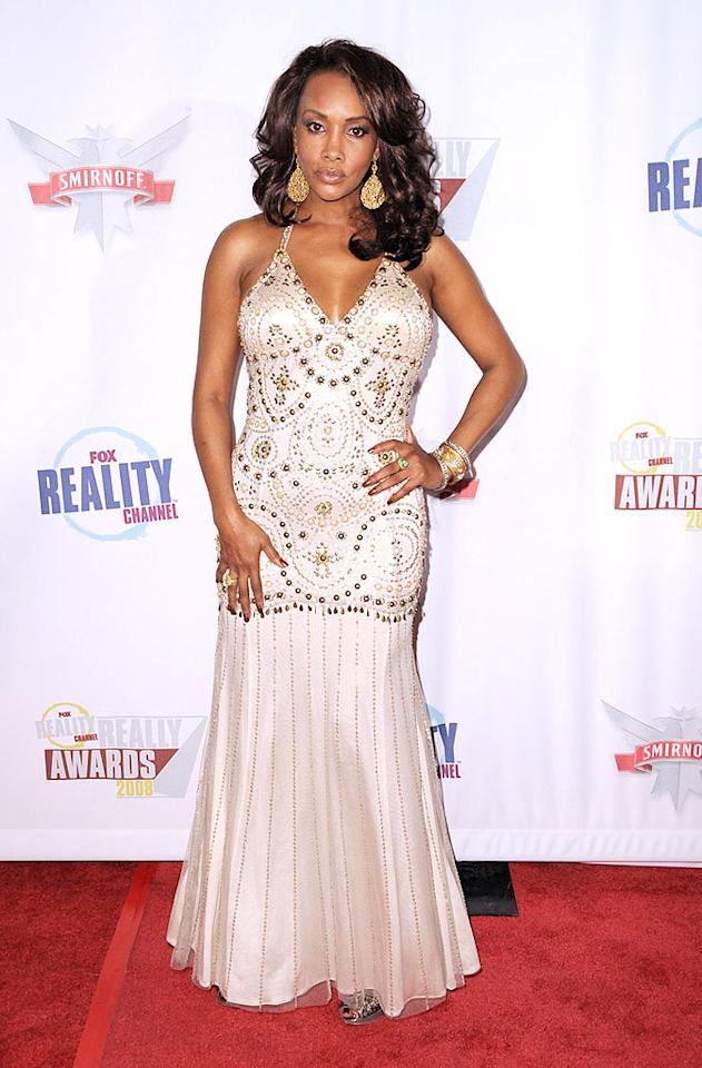"""Vivica Fox wowed the crowd in a crystal-encrusted champagne gown and jewels from 14 Karat in Beverly Hills. Frazer Harrison/<a href=""""http://www.gettyimages.com/"""" target=""""new"""">GettyImages.com</a> - September 24, 2008"""