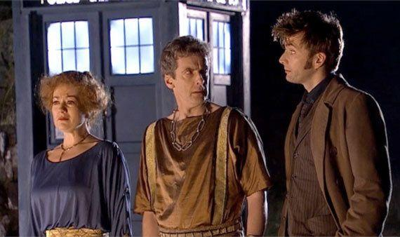 Does he look a bit familiar to you? Long before he was cast as the Twelfth Doctor himself, Peter Capaldi made an appearance during David Tennant's time as Time Lord, playing Caecillius in an episode set in ancient Pompeii.