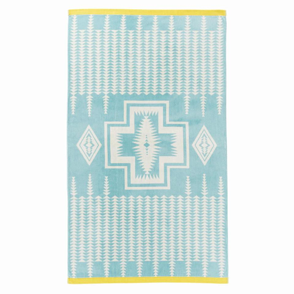"""<p>pendleton-usa.com</p><p><strong>$49.50</strong></p><p><a href=""""https://www.pendleton-usa.com/product/harding-jacquard-spa-towel-77018.html"""" rel=""""nofollow noopener"""" target=""""_blank"""" data-ylk=""""slk:Shop Now"""" class=""""link rapid-noclick-resp"""">Shop Now</a></p><p>You can't go wrong with a classic Pendleton pattern (here, 1923's """"Harding""""), particularly when it graces a 70""""-long towel made of thick cotton velour. (Other patterns also available.)</p>"""