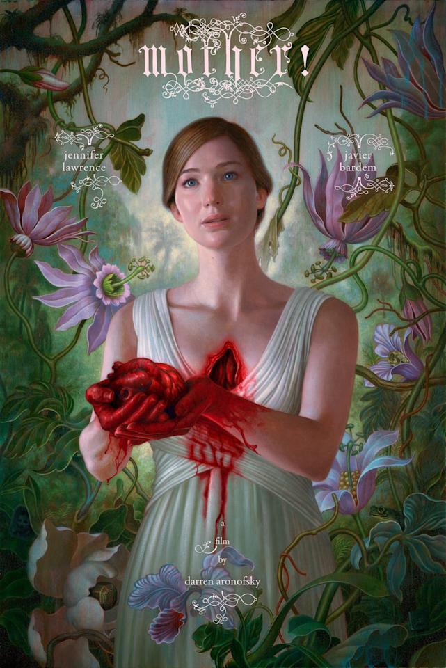 <p>Jennifer Lawrence and Javier Bardem star in Darren Aronofsky's 'Mother!' (Paramount) </p>
