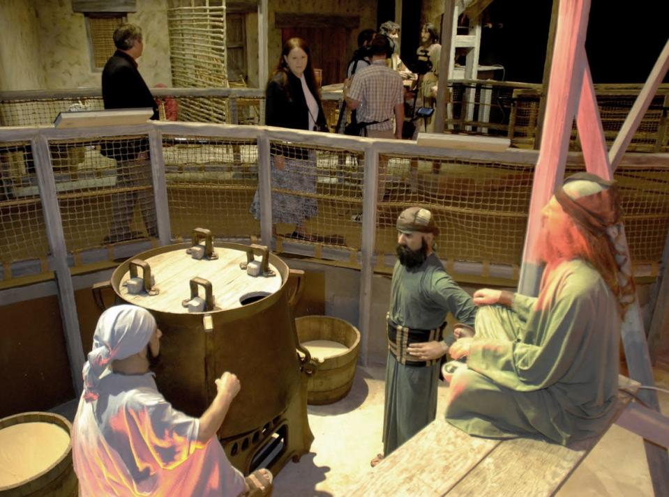 """<div class=""""inline-image__caption""""> <p>Only at the Creation Museum do dinosaurs sail on Noah's Ark.</p> </div> <div class=""""inline-image__credit""""> John Sommers II/Reuters </div>"""