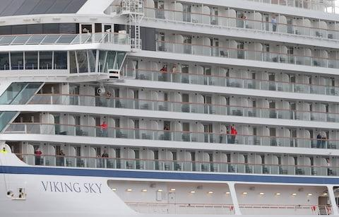 Viking Sky up close - Credit: Svein Ove EKORNESVAAG / NTB scanpix / AFP/Getty Images