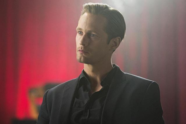 "Eric Northman (Alexander Skarsgård) is, according to the <a href=""https://www.youtube.com/watch?v=tGgt_jllHcA"" rel=""nofollow noopener"" target=""_blank"" data-ylk=""slk:trailer"" class=""link rapid-noclick-resp"">trailer</a>, moments away from baring his chompers at the governor's daughter in order to locate the facility where the humans are running experiments on his kind."