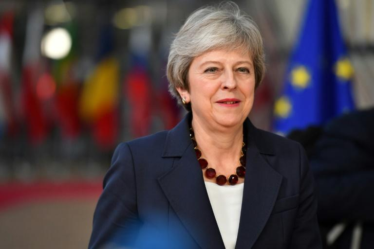 Britain's Prime Minister Theresa May, pictured October 17, 2018, held a conference call to reassure representatives of more than 130 British firms after a summit in Brussels produced no tangible progress on the Brexit process