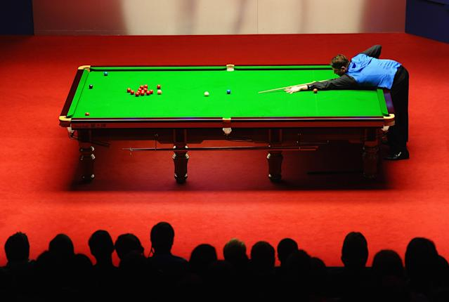 SHEFFIELD, ENGLAND - MAY 03: Matthew Stevens of Wales in action against Ronnie O'Sullivan of England during the Betfred.com World Snooker Championship Semi Final match at Crucible Theatre on May 3, 2012 in Sheffield, England. (Photo by Laurence Griffiths/Getty Images) *** BESTPIX ***