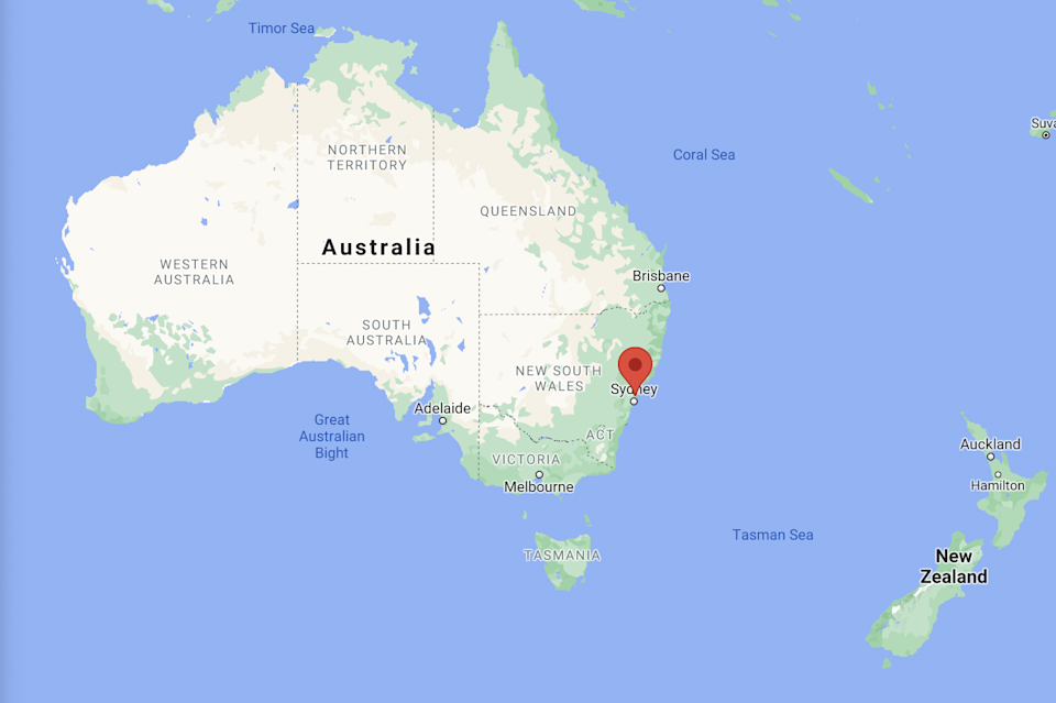 The fatal dog attack happened in Kariong, just outside Sydney, in NSW (Google Maps)