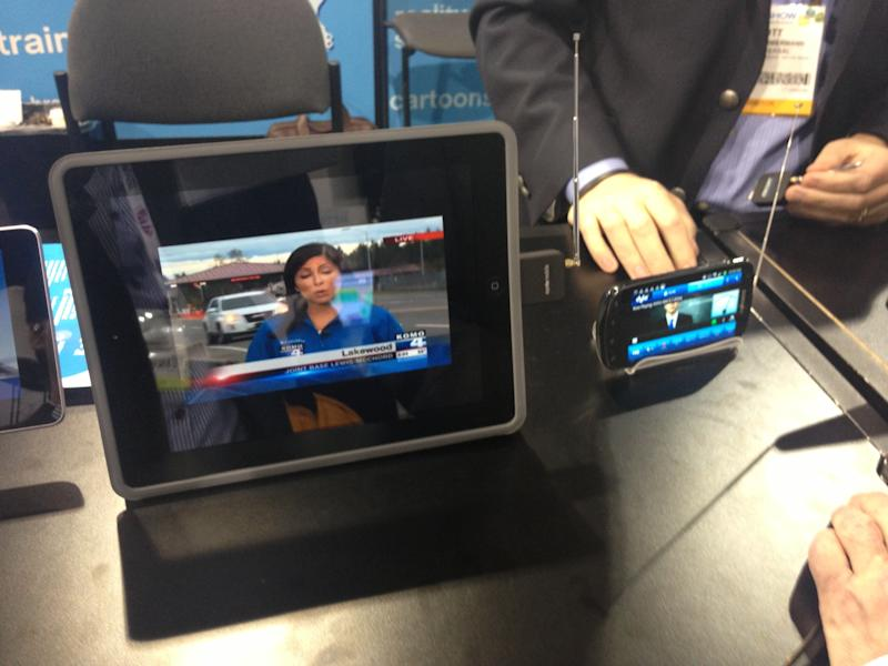 Broadcasters display mobile TV dongles at NAB Show