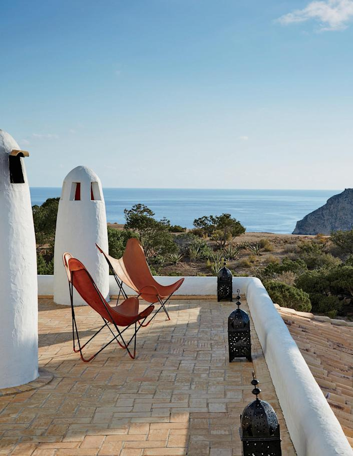 New York City–based architect and designer Daniel Romualdez relaxes at his Ibiza home when he's not working on projects for his stylish client list, which includes Tory Burch and Aerin Lauder.