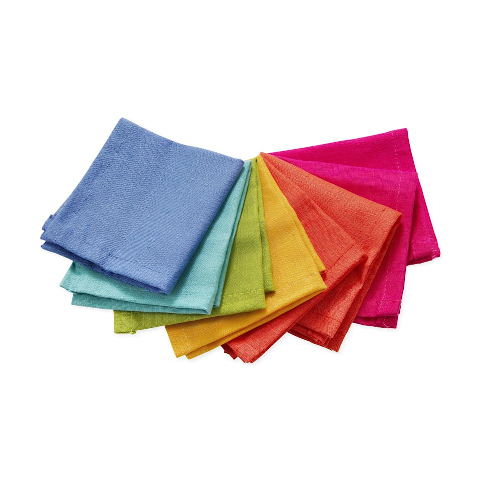 """<p><strong>MoMa Store</strong></p><p>moma.org</p><p><strong>$20.00</strong></p><p><a href=""""https://store.moma.org/for-the-home/kitchen-dining/table-linen-accessories/rainbow-cocktail-napkins/85780-85780.html"""" rel=""""nofollow noopener"""" target=""""_blank"""" data-ylk=""""slk:Shop Now"""" class=""""link rapid-noclick-resp"""">Shop Now</a></p><p>A set of eight cotton cocktail napkins in bold colors is an easy way to elevate (and eco-fy) your next soiree.</p>"""