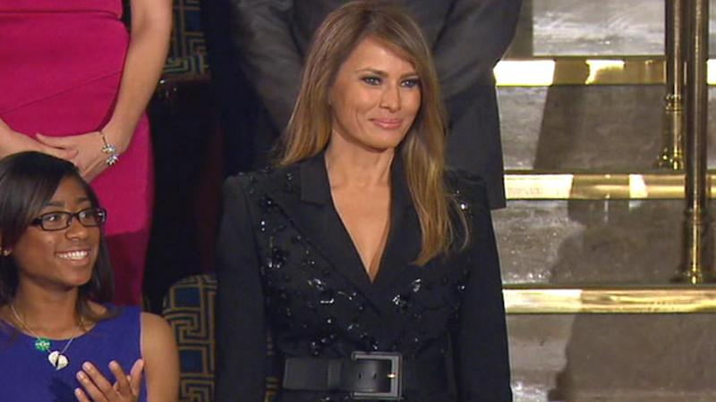 Melania Affectionately Rests Hand on Trump's Arm at Mar-a-Lago Party