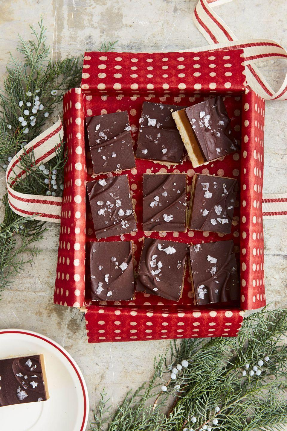 """<p>What could be better than three layers of deliciousness—shortbread, caramel, and chocolate? Make a batch and feel like the fancy person you are!</p><p><strong><a href=""""https://www.countryliving.com/food-drinks/a34331924/millionaires-shortbread-recipe/"""" rel=""""nofollow noopener"""" target=""""_blank"""" data-ylk=""""slk:Get the recipe"""" class=""""link rapid-noclick-resp"""">Get the recipe</a>.</strong> </p>"""