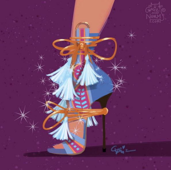 Princess Kida in booties inspired by Dsquared2.
