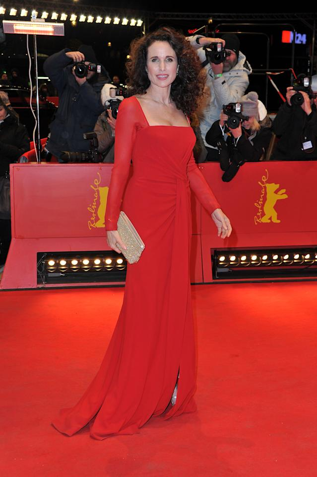 "BERLIN, GERMANY - FEBRUARY 12:  Actress Andie MacDowell attends the ""Captive"" Premiere during day four of the 62nd Berlin International Film Festival at the Berlinale Palast on February 12, 2012 in Berlin, Germany.  (Photo by Pascal Le Segretain/Getty Images)"