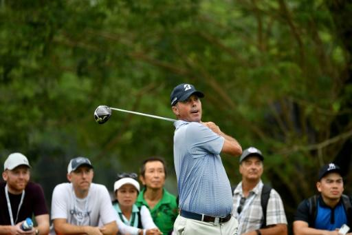American Matt Kuchar in action at the Singapore Open