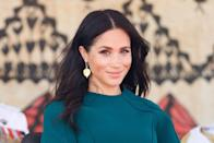 """<p>You probably know about Meghan Markle's time on a little TV show called <em>Suits</em>, but that wasn't the future Duchess of Sussex's first job. In between auditions, Meghan worked at the Paper Source store in Beverly Hills, teaching calligraphy, gift wrapping, and book binding, according to <em><a href=""""https://people.com/royals/meghan-markle-calligraphy-wedding-invitations/"""" rel=""""nofollow noopener"""" target=""""_blank"""" data-ylk=""""slk:People"""" class=""""link rapid-noclick-resp"""">People</a></em>. </p><p>The outlet also reports that she did some freelance calligraphy on the side, even writing the invitations for Robin Thicke and Paula Patton's wedding in 2005. </p>"""