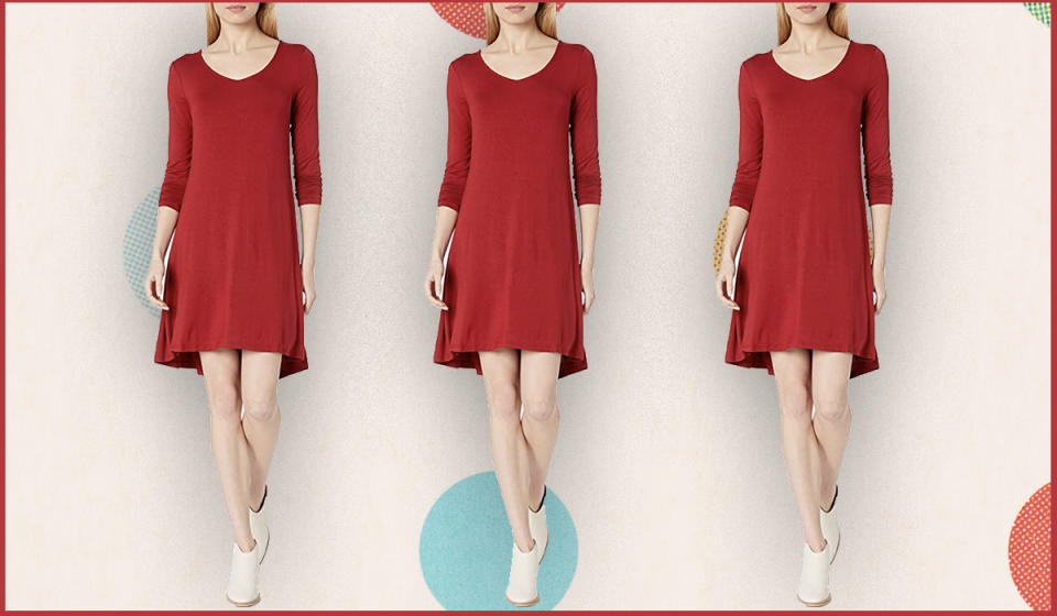 This gorgeous dress flatters a variety of body types. (Photo: Amazon)