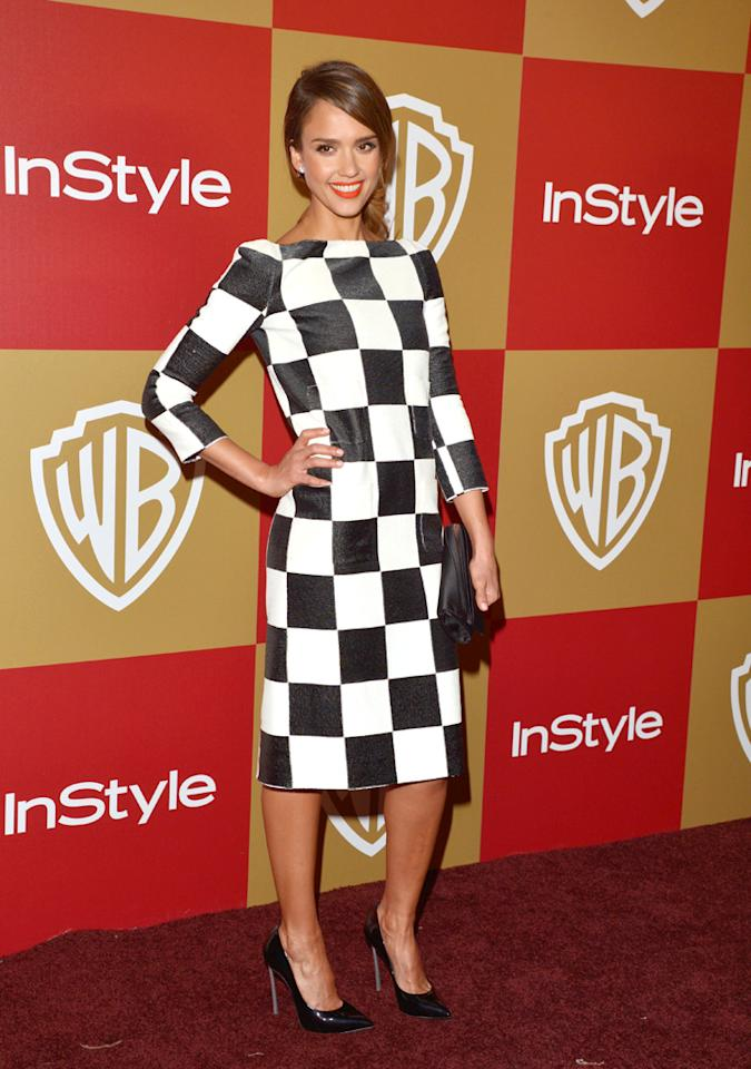 BEVERLY HILLS, CA - JANUARY 13:  Actress Jessica Alba attends the 2013 InStyle and Warner Bros. 70th Annual Golden Globe Awards Post-Party held at the Oasis Courtyard in The Beverly Hilton Hotel on January 13, 2013 in Beverly Hills, California.  (Photo by Lester Cohen/WireImage)