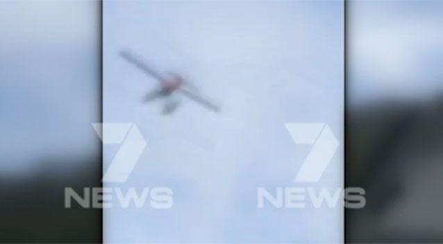Final moments of the plane before it plunged into the water. Source: 7 News