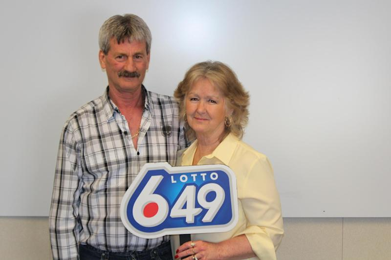 Triumph: Barbara and Douglas Fink celebrated their biggest jackpot by far: West Canada Lottery Corporation