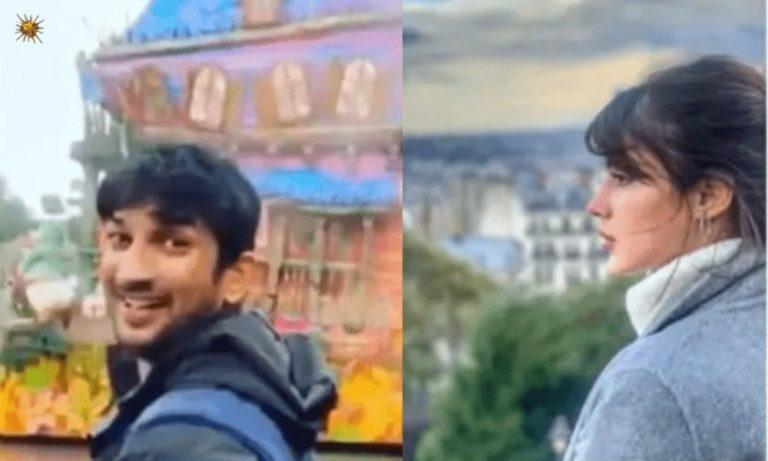 These Photos Of Rumored Couple Sushant Singh Rajput-Rhea Chakraborty Might Just Prove That They're In A 'Vacay With Your Bae' Mood In Paris!