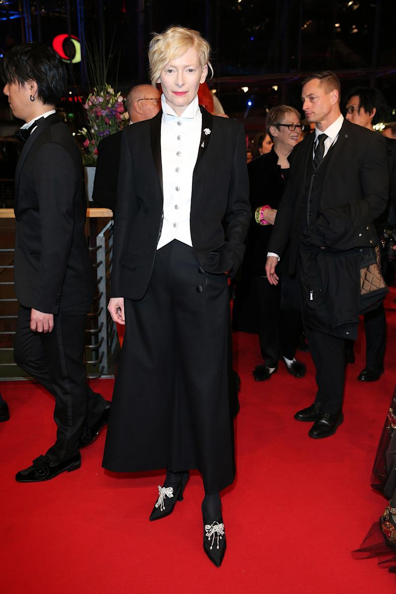 Tilda Swinton What: Chanel Where: At the Berlinale International Film Festival's opening ceremony and Isle of Dogs premiere, Berlin When: February 15, 2018