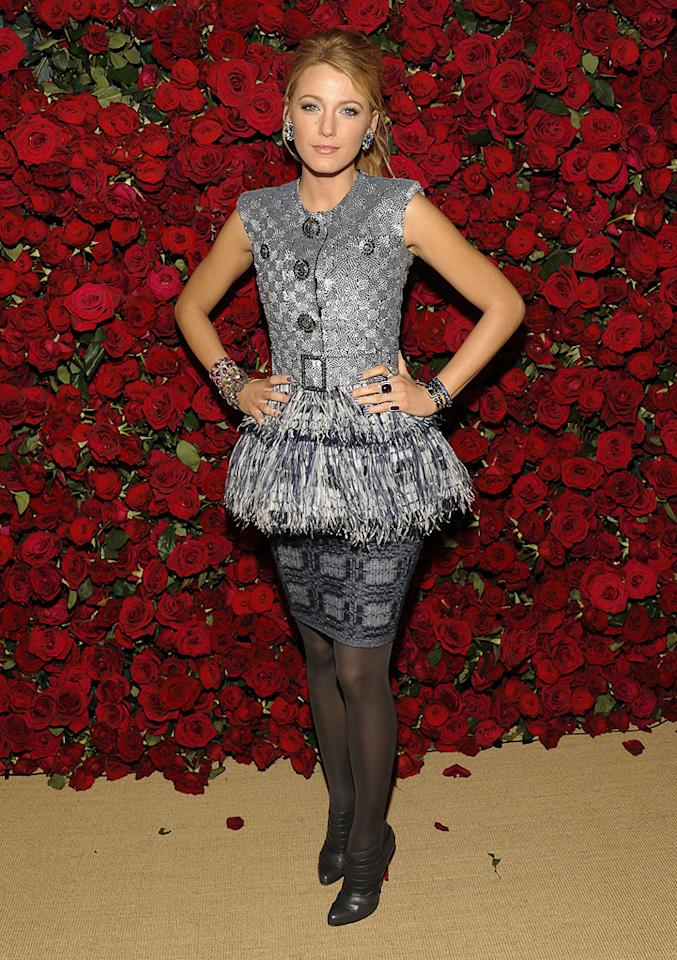 """<a href=""""http://movies.yahoo.com/movie/contributor/1808631078"""">Blake Lively</a> attends the Museum of Modern Art's 4th annual film benefit """"A Tribute to Pedro Almodovar"""" at the Museum of Modern Art on November 15, 2011 in New York City."""