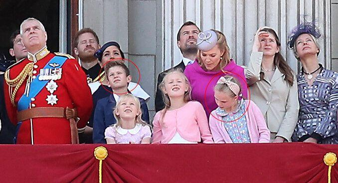 James, Viscount Severn, and Lyla Gilman pictured at Trooping the Colour 2019