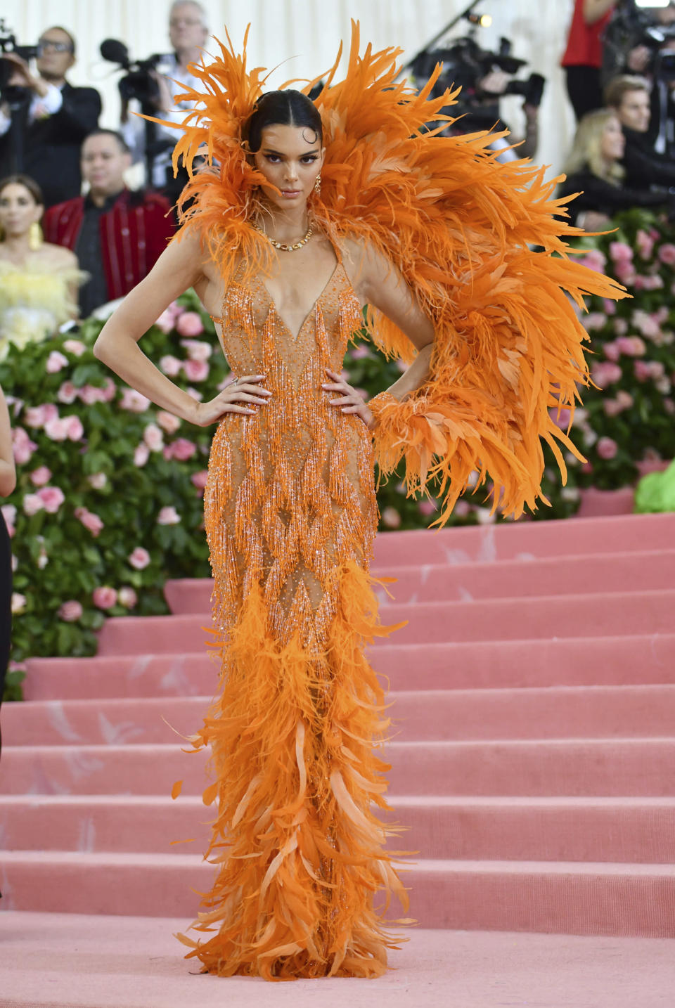 """FILE - Kendall Jenner attends The Metropolitan Museum of Art's Costume Institute benefit gala celebrating the opening of the """"Camp: Notes on Fashion"""" exhibition on May 6, 2019, in New York. Jenner turns 25 on Nov. 3. (Photo by Charles Sykes/Invision/AP, File)"""