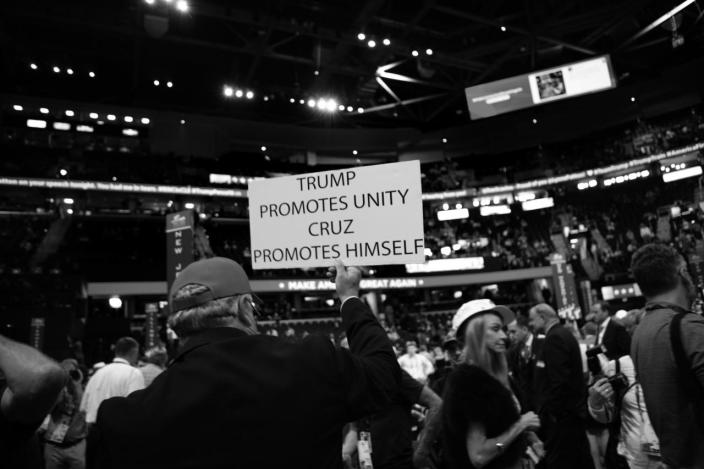 <p>A Trump supporter during the RNC Convention in Cleveland, OH. on July 21, 2016. (Photo: Khue Bui for Yahoo News)</p>