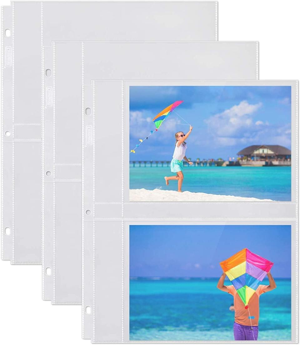 <p>If you need extra space in your albums, the <span>Dunwell 5x7 Photo Sleeve Inserts Horizontal - (5x7, 10 Pack)</span> ($) will come in handy.</p>