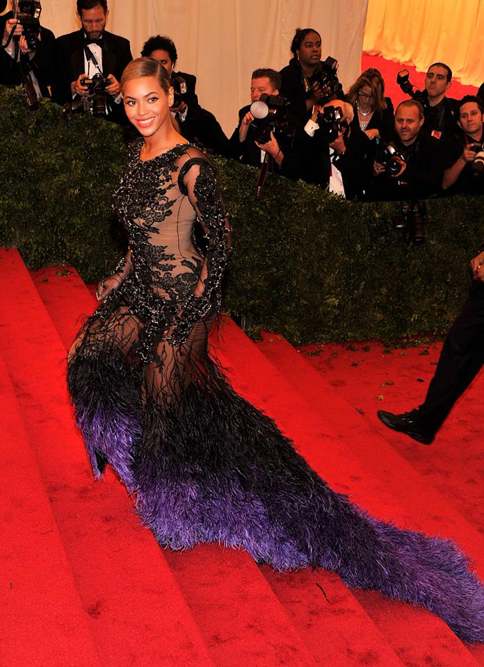 Beyonce attends the 2012 Costume Institue Gala at the Metropolitan Museum of Art in New York City, NY on May 8, 2012.