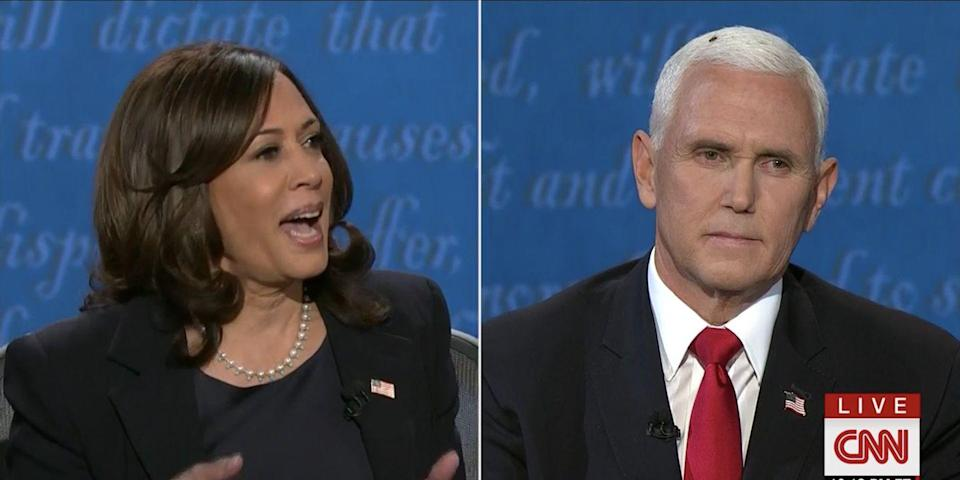 A Fly Landed on Mike Pence's Head During the Debate and the Memes Are Sending Me