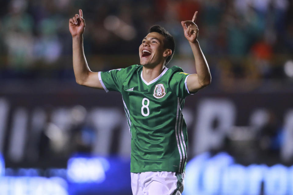 Hirving Lozano could be the key to Mexico's attack at the 2018 World Cup. (Getty)