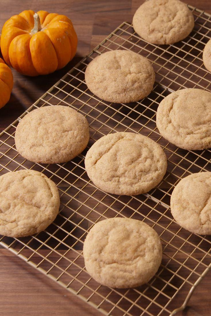 """<p>You'll never go back to plain snickerdoodles after these.</p><p>Get the recipe from <a href=""""https://www.delish.com/cooking/recipe-ideas/recipes/a49730/cheesecake-stuffed-pumpkin-snickerdoodles-recipe/"""" rel=""""nofollow noopener"""" target=""""_blank"""" data-ylk=""""slk:Delish"""" class=""""link rapid-noclick-resp"""">Delish</a>.</p>"""
