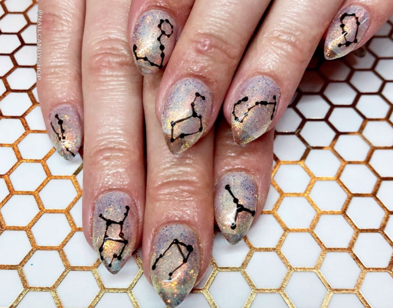 Constellation nails are the dreamy nail art trend that will