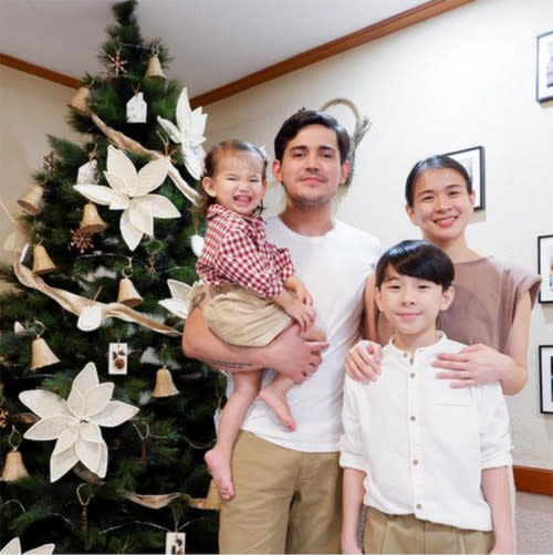 Paolo and LJ with their daughter Summer, and Aki, LJ's son from a previous relationship